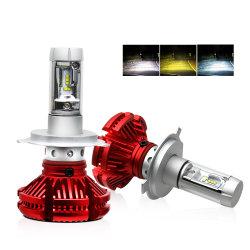 차량 변환 키트 Super Bright Triple Colors 3500K 6000K 6500K 9005 9006 H11 H7 LED 자동 헤드라이트 전구