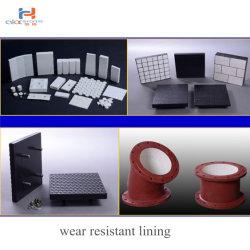 Mineralhohe Tonerde-keramische zusammengesetzte Zurückziehenplatte des industrie-Gebrauch-haltbare Gummi-92%