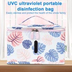 Multifunción portátil plegable Bolsa de esterilización Esterilizador UV LED Bolsa Bolsa momia desinfección UVC para el hogar y viajar