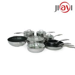 논스틱 프라이팬 조리 기구 세트, 저렴한 스테인리스 스틸 포트 베스트 셀링, 고급 요리 웍(Wok) 소스팬 JY-Sn 세트