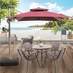 Ombrello di spiaggia romano piegante dei parasoli di controllo di Sun dell'alluminio facile dello schermo