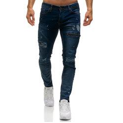 أزياء بالجملة تمديد بإحكام جينز الرجال مع مزق
