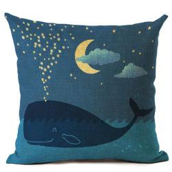 Coperchio di tela dell'ammortizzatore del sofà del salone della federa di serie del mare e della balena blu