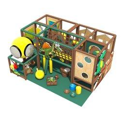 De kinderen spelen Geplaatste Spelen van de Apparatuur van de Hindernissen van de Speelplaats van de Apparatuur van het Centrum de Binnen Zachte voor Jonge geitjes