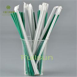100% PLA Straw Compostable per alimenti riciclabile Tableware monouso individuale Confezionamento di cannucce per bevande biodegradabili