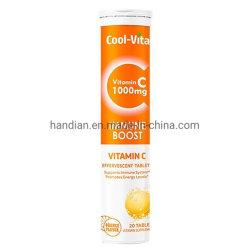 Comprimidos efervescentes processamento OEM comprimidos instantâneas vitamina C Bebidas Bebidas sólido