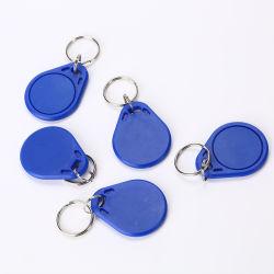 ABS Blue Keychain IC-kaart 13,56 MHz MIFARE-sleutelhouder Kaartlabel