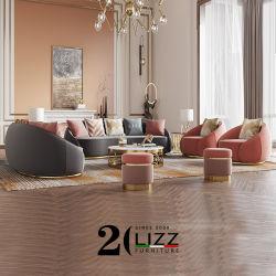 Арабского мусульманского роскошь современной мебелью, вид в разрезе для отдыхающих бархатной ткани диван пола
