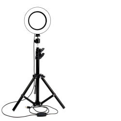 2020 novas chegadas 8 Polegada luz circular LED 2m Tipod repousar espelho VÍDEO FOTOGRAFIA