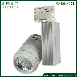 Haut de la lumière LED Spot de la voie 2/3/4 fils de lumière LED blanc commercial Voie 15W/20W/25W/30W