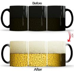 جديد بئر جعة فقاعة سحر السيراميك لون تغيير كوب القهوة