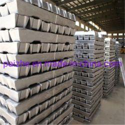 China Factory aluminio Ingot 99,9% aluminio aleación Ingot Precio
