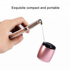Beweglicher Tws drahtloser Lautsprecher mit Fernblendenverschluß, LuxuxminiBluetooth Metalllautsprecher, Ei-Größen-Stereoresonanzkörper