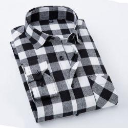 Plaid-Flanell-rotes Checkered langes Hülsen-Mann-Hemd