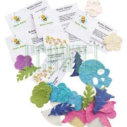 Nom de semences Plantable carte et carte d'affaires avec des semences