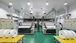 Alimentação de fábrica em tecido Non-Woven suave de PP de falsos tecidos têxteis de tecido para tecido impermeável Máscara