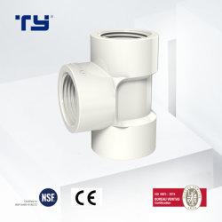 En t de PVC de alta calidad Bsp Colocación de tubo de plástico para marcas de agua fontanería baño fabricante de la lista de precios