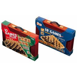 10 in 1 gioco di legno impostato con pratico