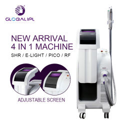 أفضل منتجات منتجات الليزر الأكثر مبيعًا IPL+E Light+RF+YAG ماكينة تجميل متعددة الوظائف