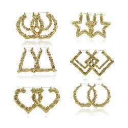 De Hoepel van de Oorringen van de Naam van het Embleem van Word van de Douane van de Juwelen van het roestvrij staal personaliseerde de Gotische Oude Oorringen van de Cirkel van de Doopvont Enligh Grote