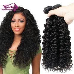 100 % des cheveux frisés profonde cuticule brésiliens alignés Tissage de cheveux