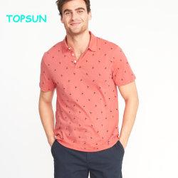 I Mens mettono la maglietta in cortocircuito lavorata a maglia stampata casuale atletica personalizzata di marchio popolare della camicia di polo del manicotto