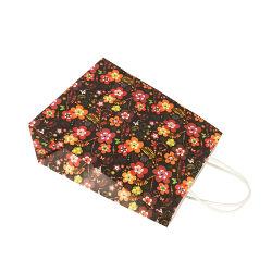 Progettare il sacchetto per il cliente di plastica biodegradabile impaccante della carta kraft del sacchetto di acquisto del documento del mestiere del regalo