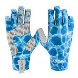 La meilleure qualité personnalisée Half Finger respirant UPF 50+ Hommes Femmes UV Sun Gants Gants de pêche à la mouche