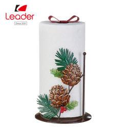 Décoratifs Pinecones en métal serviette de papier support Support papier de cuisine