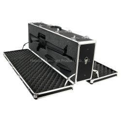 二重問題のアルミニウム散弾銃およびライフルの箱、黒または銀