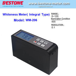 При помощи мультиметра лампа Leucometer белизна диапазон 0~120 карманных портативных цифровых в алюминиевом корпусе для бумаги краски порошок