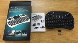 Tastatur I8 mit Berührungsfläche für PC 2.4G WiFi mini drahtloses Tastatur-Luft-MausRii Fliegen-Mäusearabisch