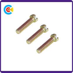 GB/DIN/JIS/ANSI Kohlenstoffstahl/aus rostfreiem Stahl 4.8/8.8/10.9 galvanisierte Querhauptschraube für Gebäude-Maschinerie/Industrie