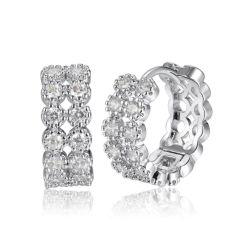 Oorringen van de Nagel van het Messing van de Juwelen van de Juwelen van de manier de Zilveren Zilveren voor Meisjes