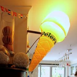 Boîtes à lumière formé sous vide de la crème glacée en plastique signe à affichage LED