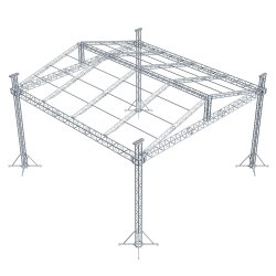 Бесплатный дизайн пользовательских используется алюминиевый освещение на крыше опорной системы отображения