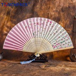 Летом рекламных подарков Custom печать складывание бумаги из бамбука электровентилятора системы охлаждения двигателя