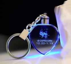 سلسلة مفاتيح زجاجية كريستالية خفيفة مخصصة من نوع LED بحجم 3 سم لمنحك الفرصة هدية