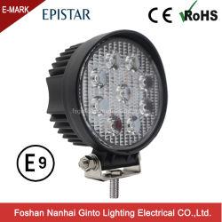 مصباح عمل LED دائري منخفض التكلفة 27 وات مقاس 4 بوصات من أجل جرار شاحنة (GT2009-27 واط)