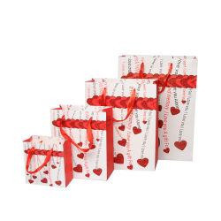 Eco friendly Compras bolsa de papel de la tabla gris bolsa de regalo cosmética