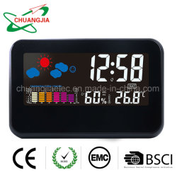 Despertador digital&Función Snooze con estación meteorológica para el hogar dormitorio