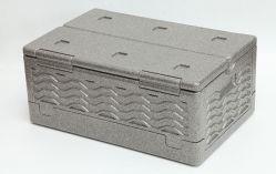 Personalizar el frío de 39 litros de espuma aislante EPP plegable Caja de almacenamiento para la entrega de alimentos