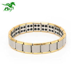 316L de roestvrije Bio Magnetische Armband van het Germanium van het Titanium van de Energie Stee