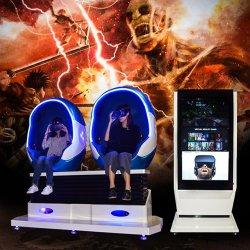 Animado Jogo de Realidade Virtual 360 Graus 2 Lugares 9d Vr Teatro de Cinema