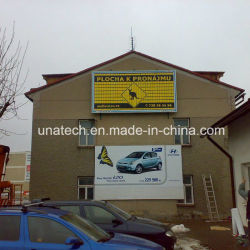 La construction de la publicité Publicité de plein air Prisma tissu à mailles Triple de panneaux en PVC