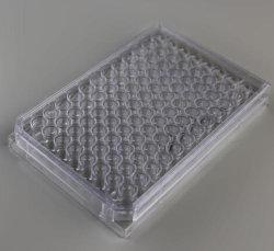 Placa de cultura de células de alta qualidade com 96 poços com marcação, ISO e FDA