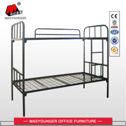 学校家具のホテル梯子が付いている軍の鋼鉄学生労働者の使用の金属の二段ベッド