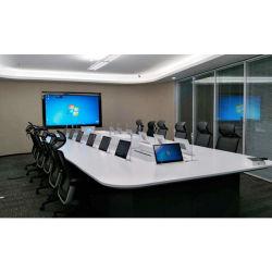 شاشة LCD مرصعة بمرصعة بفيديو رفيع جدًا لشاشة LCD رفيعة جدًا نظام المؤتمرات للمكتب