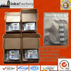 2L sacos de tinta para Mimaki Jv5/EC33/Cjv30/JV34 Impressoras