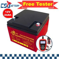 Csbattery 12V24ah Bateria de gel personalizáveis para Electric-Scooter/security/Powered-House-Monitor-System/Electric-Scooter/VS: Sonnenlicht/Sail/Amy